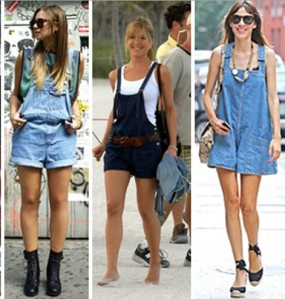 celebrities in shorts overall