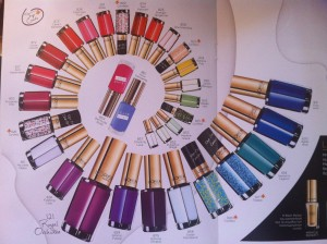 l'oreal nail colors for 2014