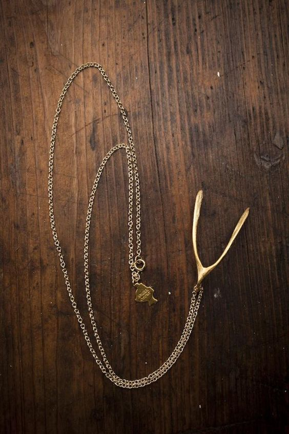 Wishbone Necklace by Angel Court